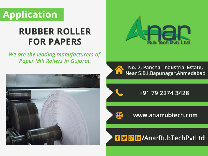 Rubber Roller For Papers - Anar Rub tech pvt ltd   #RubberrollerForpPaper #RubberRoller  #AnarRubTechPvtLtd