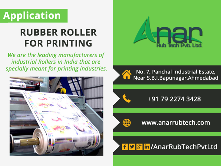 Rubber Roller For Printing - Anar Rub tech pvt ltd   #RubberrollerForPrinting #RubberRoller  #AnarRubTechPvtLtd