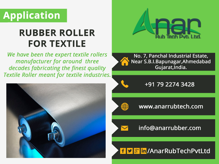 Rubber Roller For #Text #Tile -  Anar rab tech pvt ltd  #RubberrollerFortexttile #RubberRoller  #AnarRubTechPvtLtd