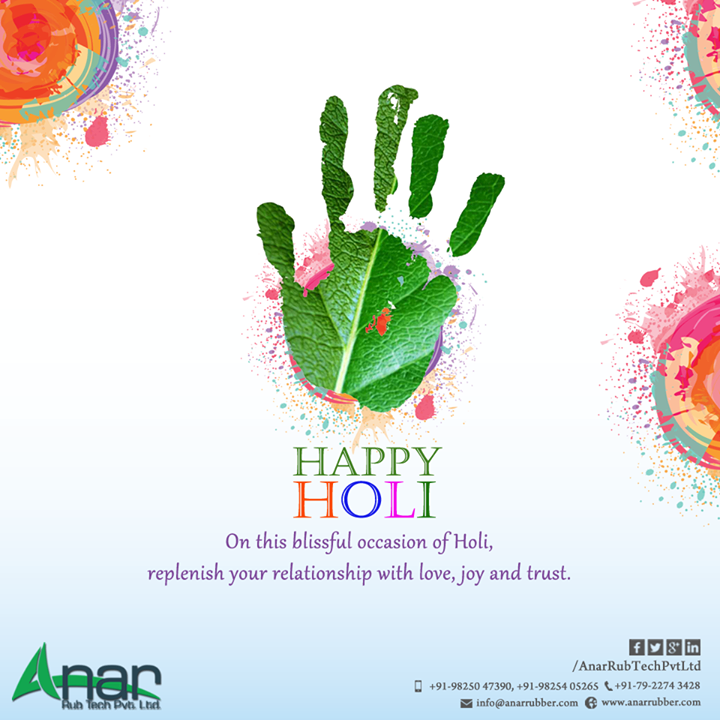 On this holi Color your heart, color your soul; this is the day this is the time, to make a relation for life long.  #Anar RubTechPvt #happy   #holi