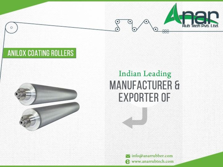 AnarRubtech Pvt Ltd is India's leading #manufacturer & #exporter of #Anilox #Coating #Roller http://ow.ly/JAos300cLbJ