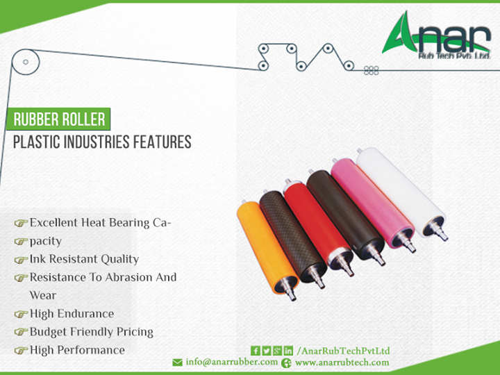 Anar Rubtech Pvt. Ltd. is an India's leading manufacturer & exporter of #Rubber #Roller  http://ow.ly/fIG9300cLqa