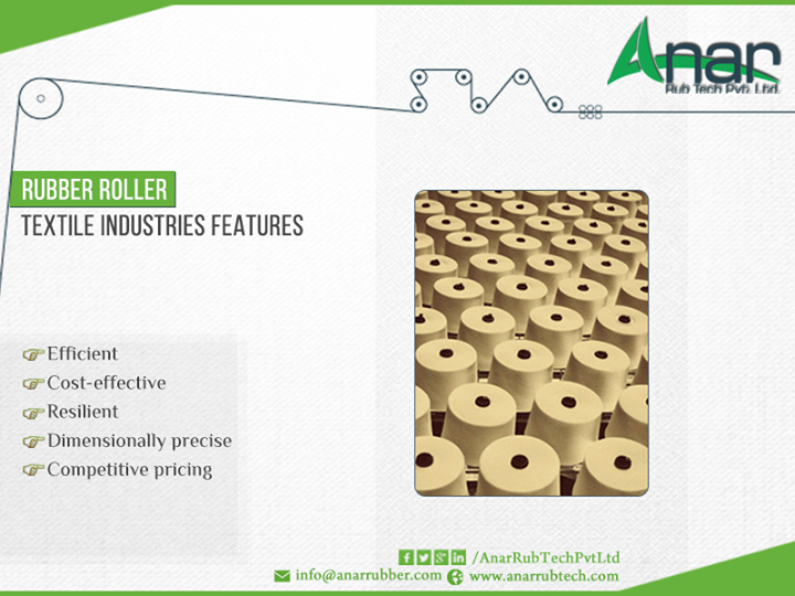#Rubber #roller for #textile #industry visit http://ow.ly/MiZe300yUSA page for more details
