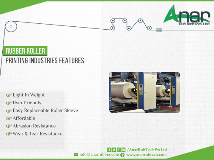Anar Rub Tech is #manufacturer of #Rubber #roller for #printing #industry. Call to get best #quality rubber roller