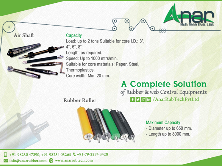 A Complete #Solution of #Rubber & #Web #Control #Equipments  #AnarRubTechPvtLtd
