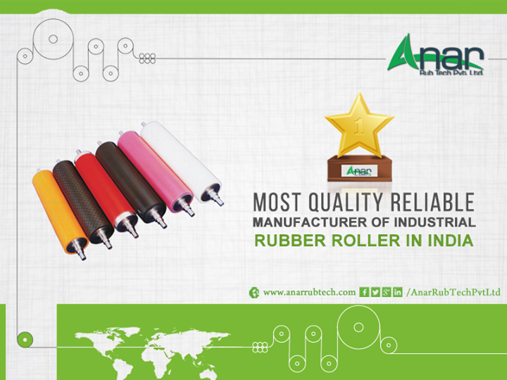 Most #Quality #Reliable #Manufacturer of #Industrial #Rubber #Roller In #India