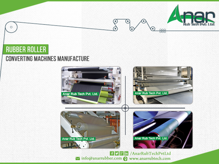 Anar Rubtech is leading #manufacturer of #Rubber #roller for #converting #machines manufacturer.
