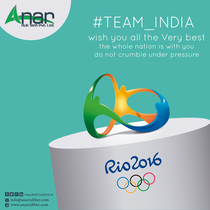 Team #India, #wish you all the very best.  The whole nation is with you.  #Rio2016 #olympics #