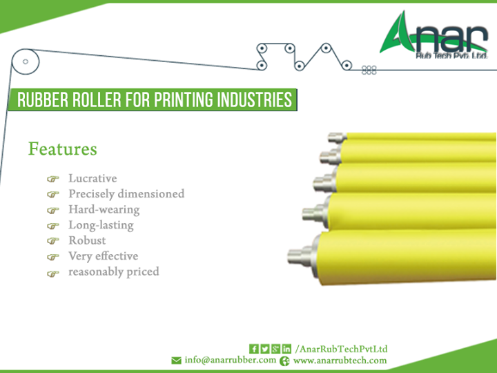 Anar Rub Tech,  RubberRoller, Printing, Industries, Lucractive, Preciselydimensioned, Hardwearing, LongLasting, Robust, AnarRubTechPvtLtd