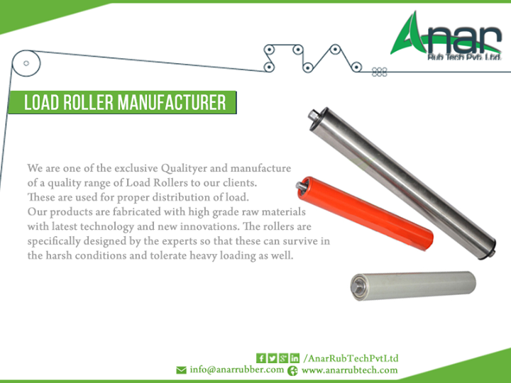 We are leading D of #Load Roller Manufacturer #Ahmedabad, #India we are one of the exclusive qualityer and Manufacturer of a quality range of #load rollers to our clients #AnarRubber #Shaft #Manufacturer #Gujarat