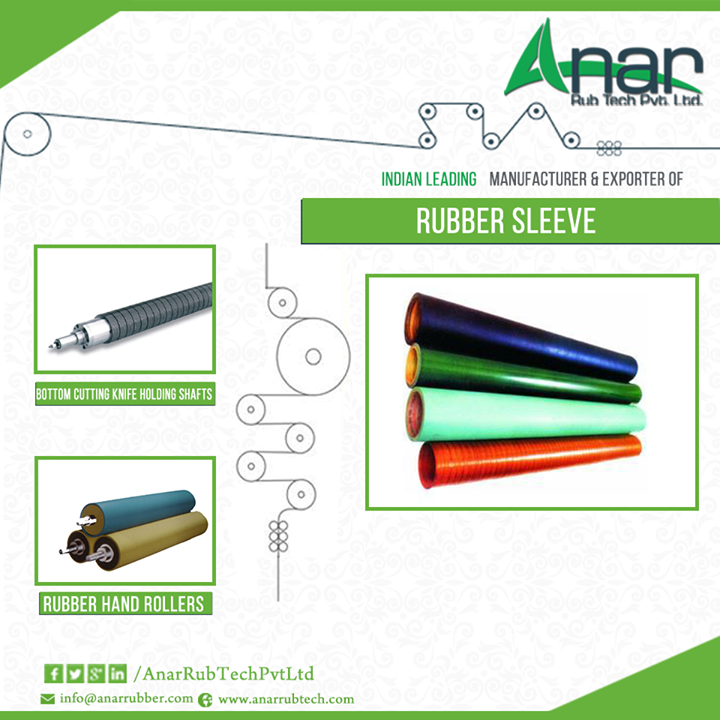 There are a large number of #exporters and #suppliers of #rubber-sleeve in India. #Rubbersleeves are very flexible and soft and they also have the tendency of being abrasion resistant. #Rubbersleeves possess a high degree of insulation properties like protection from cold and hot.  The #rubbersleeve is used in different machines. They offer great damping performance and they can even be maintained very easily. The best thing about these #rubber-sleeves is that they are highly durable and soft.  Applications and Uses of Rubber Sleeve There are varied uses of rubber sleeve and you can easily find great many rubbersleevesuppliers throughout the market. They are of good use in high wear applications, diluted acids, abrasive materials, chemicals and alkali. They have a perfectly smooth inner surface offering superior quality. They are also available in glossy designs and colours. They are resistant to fatty acids, oil, lubricants, hydrocarbons, butane, sewage and zinc sulphate.  #Rubbersleeve can be of good use in making the entire #manufacturing  procedure simple and effective for the# manufacturers operating in different industries.