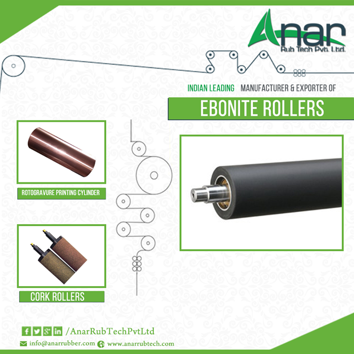Ebonite rollers are capable of withstanding high temperature of water and temperature. They are used in superior engineering and mainly in plastic industries. Ebonite rollers for plastic industry are capable of functioning smoothly in various applications...... http://ow.ly/CLBT3058RWd  #EboniteRoller #EboniteRollers #EboniteRollersManufacturers #EboniteRollersExporter #EboniteRollerssuppliers #CorkRollers #Rotogravure-Printing-Cylinder #Rubber-Ebonite-Rollers W:  Click Here E: marketing@anarrubber.com M: +91 9825405265
