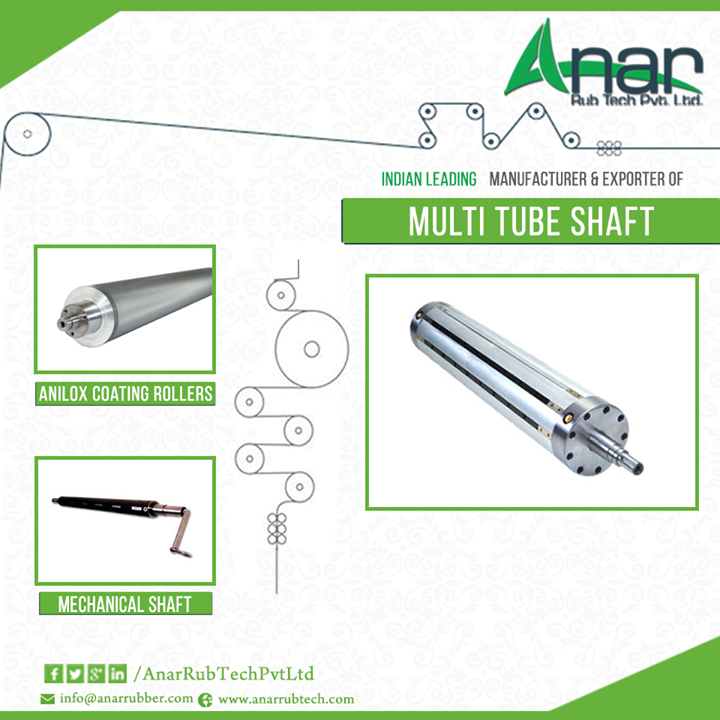Anar Rub Tech Offering High Quality Multi Tube Shafts  Used for changing or replacing damaged bladder, multi tube shafts are available at different prices and sizes. It can be customized as per requirement of the customer. Anar Rub Tech is a reputable multi tube air shaft manufacturer and exporter based in Ahmedabad. Multi tube shafts provide superior grip and finds application in plastic, packaging as well as printing industry.  #Multitubeshaft #multitubeshaftsupplier #multitubeairshaft #multitubeairshaftmanufacturer #multitubeairshaftexporter #Aniloxcoatingrollers #MechanicalShaft #Multitubeshaftforplasticindustries #Multitubeshaftforprintingindustries #Multitubeshaftforpackagingindustries  w: http://anarrubtech.com/ E: marketing@anarrubber.com M: +91 9825405265