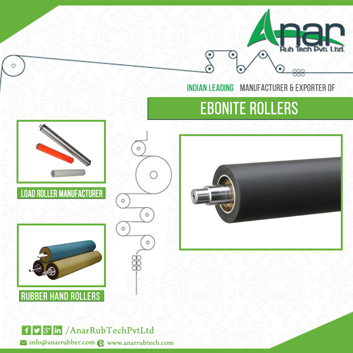 Buy Ebonite Rollers from Anar Rub Tech Supreme quality of ebonite rollers is one of the preferred products from the rubber roller industry. The specialty of this specific kind of roller is that it can tolerate high temperatures of water and steam and is oil, rust and abrasion resistant.  Anar Rub Tech, a company primarily based in Ahmedabad is a well-known ebonite rollers exporter in India. Their products are always high in demand.  #EboniteRollers #eboniteRollersExporter #EboniteRollerManufacturer #EboniteGuideRoll #EboniteDancingRoll #EboniteChudiRoll #LoadRollerManufacturer #RubberHandRoller  w: http://anarrubtech.com/ E: marketing@anarrubber.com M: +91 9825405265