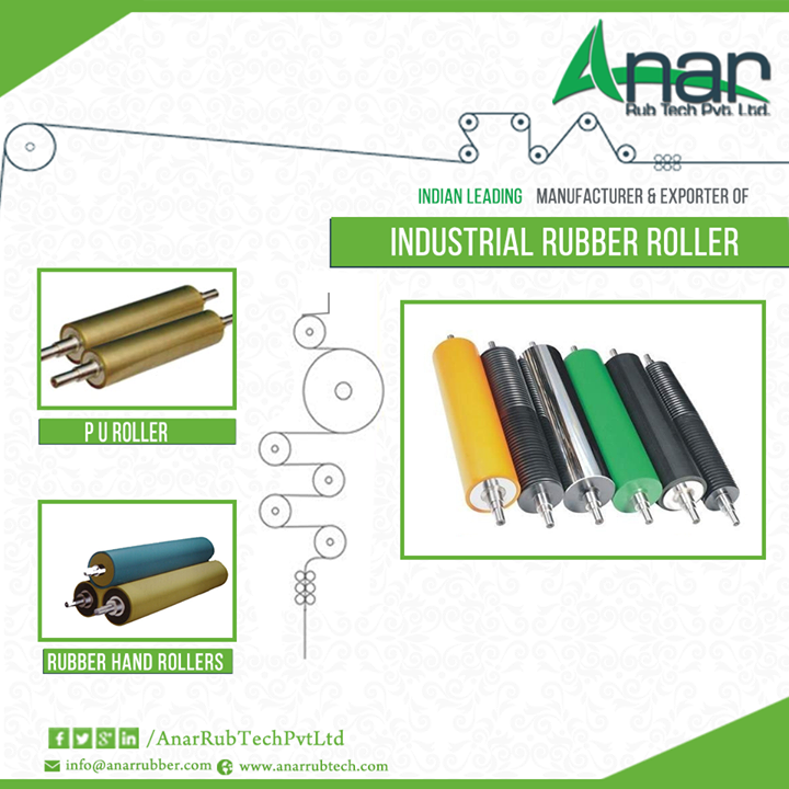 Premium Industrial Rollers from Anar Rub Tech There are many Industrial Rubber Rollers present, which are used in paper, packaging, textile, leather, food etc. industries. The most sought after among them is industrial rollers.  Anar Rub Tech is the foremost industrial rubber rollers suppliers in India who have been looking after the needs of their customers very sincerely. And their products are not limited here; rather they have a wide global base.   #Industrialrubberrollers #industrialrubberrollerssuppliers #rubberrollerssuppliers #TextileIndustriesForrubberrollers #PlasticIndustriesForrubberrollers #PaperIndustriesForrubberrollers #ConvertingIndustriesForrubberrollers #LaminationIndustriesForrubberrollers #TyresIndustriesForrubberrollers #MetalIndustriesForrubberrollers #LeatherIndustriesForrubberrollers #PURoller #RubberHandRollers  w: http://anarrubtech.com/ E: marketing@anarrubber.com M: +91 9825405265