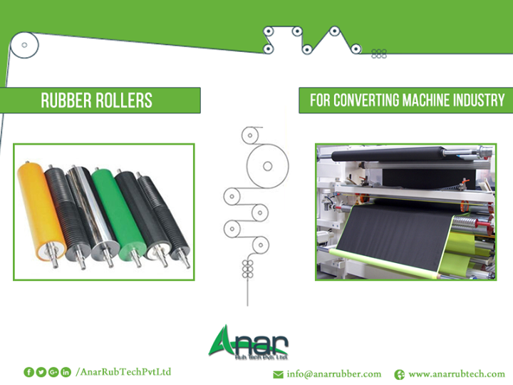 Accept Only Superior Quality Rubber Rollers Make use of superior grade rubber rollers for the converting machine industry. Rubber rollers manufactured by AnarRub Tech Pvt. Ltd. are designed meticulously to generate thin sheets of metals to be crafted into high-end machine parts. The range of rubber rollers include poly expanded rollers, bow spreader rollers, web master roll, screen exposing tube, web guiding system, gripper type quick lock etc. which are widely used in the converting machine industry. #RubberRollers  #RubberRollersforConvertingMachineIndustry #ManufacturerofRubberRollersforConvertingMachineIndustry #ExportersofRubberRollersforConvertingMachineIndustry #SuppliersofRubberRollersforConvertingMachineIndustry #RubberRoller #BestRubberRollersforConvertingMachineIndustry #RubberRollersManufacturerforConvertingMachineIndustry #RubberRollersExportersforConvertingMachineIndustry #RubberRollersSuppliersforConvertingMachineIndustry w: http://anarrubtech.com E: marketing@anarrubber.com M: +91 9825405265