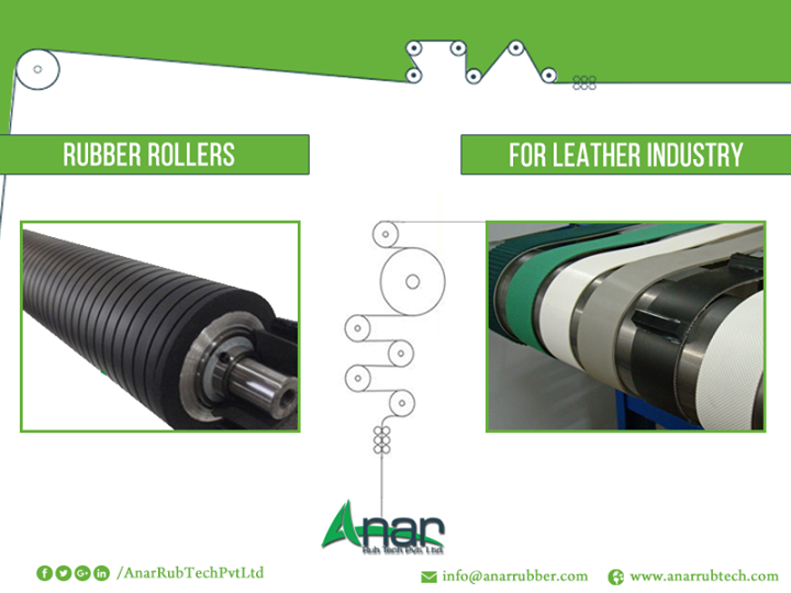 Over the Top Rollers for Leather Industry  Settle for the best rubber rollers for leather industry by purchasing from the highly eminent company Anar Rub Tech Pvt. Ltd.  Our rubber rollers are sturdy and can withstand the heavy handling in the leather industry. Our rubber rollers for leather industry are effective, tear, wear and corrosion resistant. Our rubber rollers have amazing absorbing properties and can be used with ink constantly.Banana bow roller, wrinkle removal roller, web master roll are some of our top-grade quality products used in the leather industry.  #RubberRollers #RubberRollersforleatherIndustry #BananaBowRollerforleatherIndustry #WrinkleRemovalRollerforleatherIndustry #WebMasterRollforleatherIndustry #BestRubberRollersforleatherIndustry #ManufacturerofRubberRollersforleatherIndustry  #ExportersofRubberRollersforleatherIndustry  #SuppliersofRubberRollersforleatherIndustry #RubberRollersSuppliersforleatherIndustry  w: http://anarrubtech.com E: marketing@anarrubber.com M: +91 9825405265