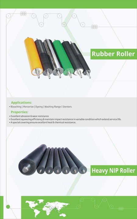 Anar Rubtech Pvt. Ltd. is leading manufacturer of Rubber Roller and Heavy NIP Roller for textile industry.  Applications of Rubber Roller and Heavy NIP Roller: - Bleaching, Mercerize, Dyeing, Washing Range and stenters Properties of Rubber Roller and Heavy NIP Roller - Excellent abrasion & wear resistance - Excellent squeezing efficiency & maintain impact resistance in variable condition which extend service life. - A special covering ensure excellent heat & chemical resistance. visit us at 10th India International Textile Machinery Exhibition, India ITME 2016 @ Mumbai - Hall No 2A, Stall No F10 - 03rd to 08th December 2016  #RubberRoller #HeavyNIPRoller #RubberRollermanufacturer #HeavyNIPRollermanufacturer #RubberRollerfortextileindustry #HeavyNIPRollertextileindustry #BestRubberRollermanufacturer #bestHeavyNIPRollermanufacturer #RubberRollersupplier #HeavyNIPRollersupplier #IndiaInternationalTextileMachineryExhibition  w: http://anarrubtech.com/ E: marketing@anarrubber.com M: +91 9825405265