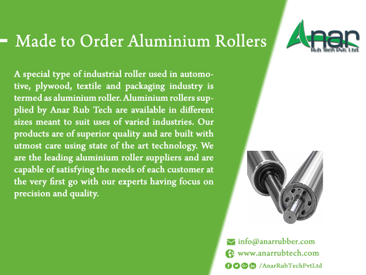 Made to Order Aluminium Rollers