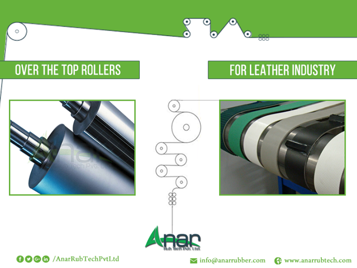 Over the Top Rollers for Leather Industry