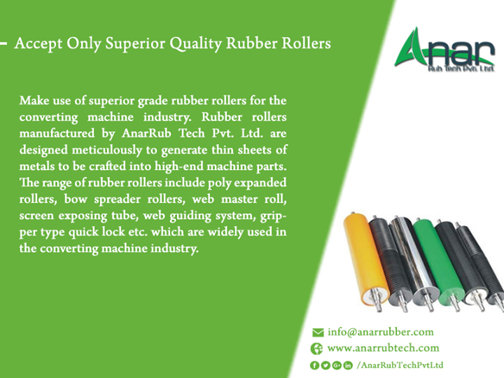 Accept Only Superior Quality Rubber Rollers