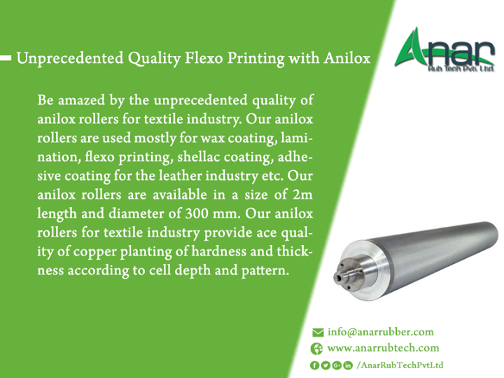 Unprecedented Quality Flexo Printing with Anilox Rollers