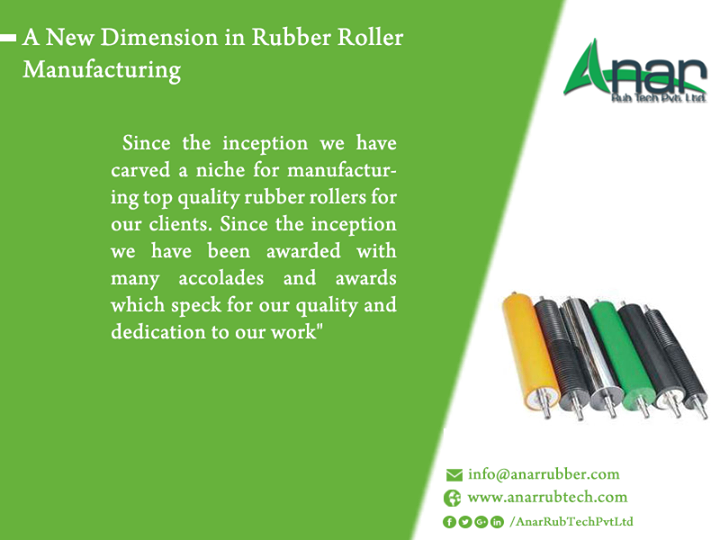Ana Rub Tech Pvt Ltd: A New Dimension in Rubber Roller Manufacturing