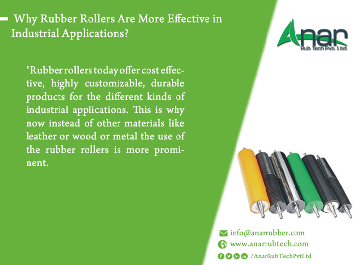 Why Rubber Rollers Are More Effective in Industrial Applications? Rubber rollers today offer cost effective, highly customizable, durable products for the different kinds of industrial applications. This is why now instead of other materials like leather or wood or metal the use of the rubber rollers is more prominent. Visit us at http://rubbercoatedroller.com/search/Ana-Rub-Tech-Pvt-Ltd for more details