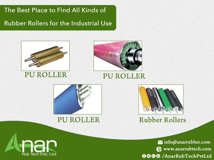 The Best Place to Find All Kinds of Rubber Rollers for the Industrial Use Ana Rub Tech Pvt Ltd is your one stop destination for quality based and useful rubber rollers, cork rollers, P U rollers, film plant rollers, lamination rollers and various other specific rubber components. So if it is the rubber roller that you need, then get in touch with us to find a feasible solution. #PURollersManufacturer #corkRollersManufacturer #FilmPlantRollersManufacturer #LaminationRollersManufacturer #RubberRollerManufacturersinAhmedabad #RubberRollerManufacturerinGujarat #RubberRollerManufacturersinGujarat #RubberRollerManufacturerinIndia #RubberRollerManufacturersinIndia w:http://anarrubtech.com/   E:marketing@anarrubber.com   M:+91 9825405265