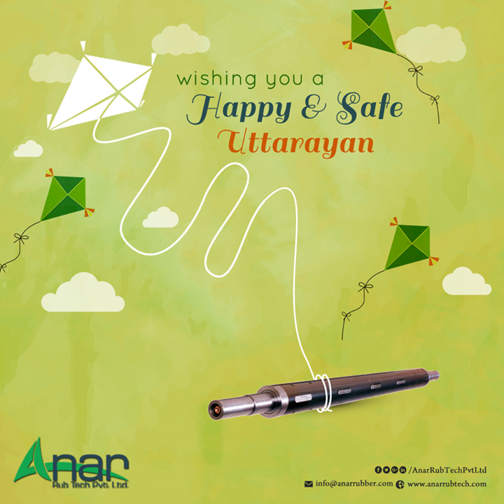 Happy Uttrayan from Anar Rub Tech! Enjoy the Uttrayan holiday and spend your time with the kids at your home who have been waiting for this day to fly kites with you. Savour the sweet delicacies prepared at home and spend some quality time enjoying the winds and music. Remember, festival is the only time when you can celebrate your togetherness.  Hope you have a great beginning with a joyous and splendid Uttrayan.  #HappyUttarayan #PURollers  #AirExpandableShafts  #AniloxRollers  #EmbossingRollers  #Quickchangesleeve   #Inkcirculatingsystem  #WrinkleRemovingRolls w:http://anarrubtech.com/   E:marketing@anarrubber.com   M:+91 9825405265