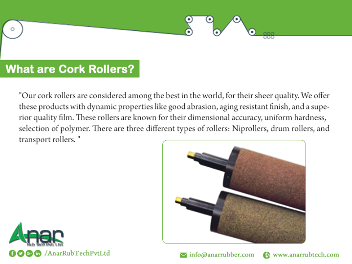 What are cork rollers?