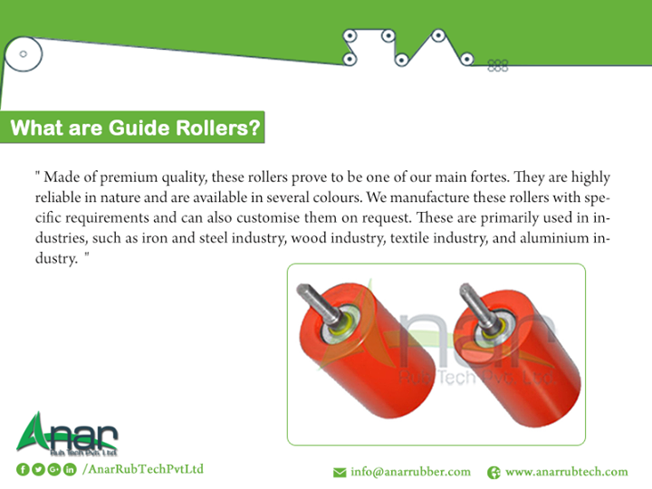 What are guide rollers?