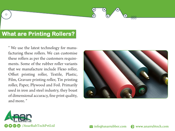 What are printing rollers?