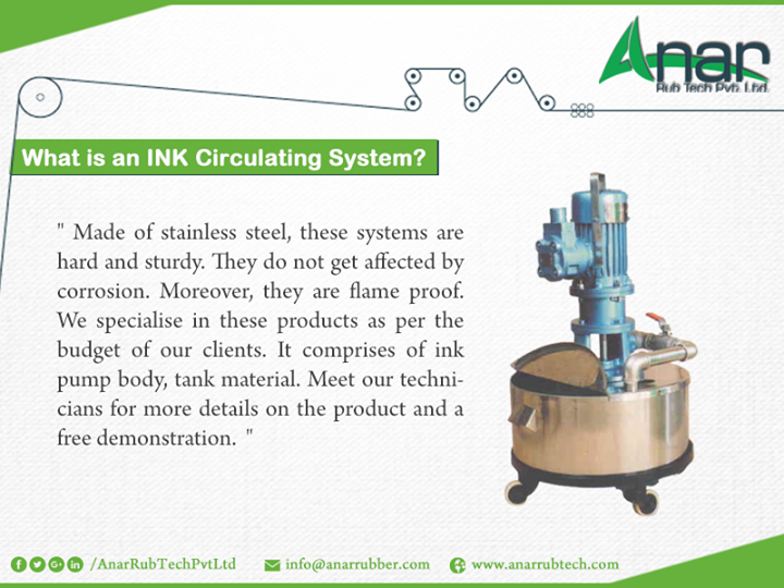 What is an ink circulating system?
