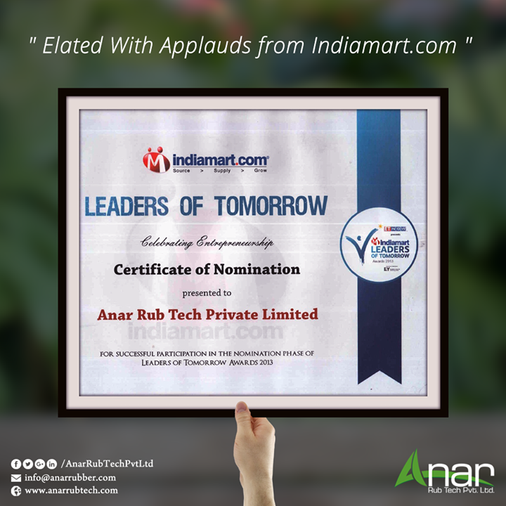 Elated With Applauds from Indiamart.com
