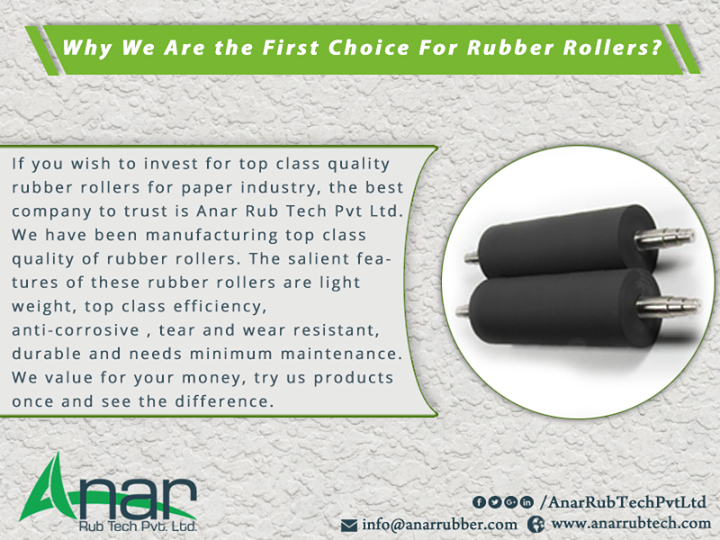 Why We Are the First Choice For Rubber Rollers?
