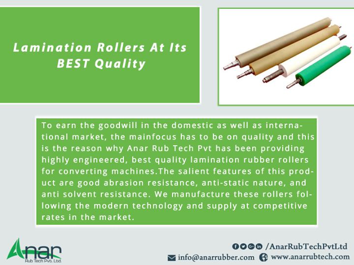 Lamination Rollers At Its BEST Quality
