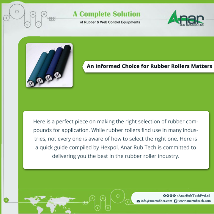 An Informed Choice for Rubber Rollers Matters