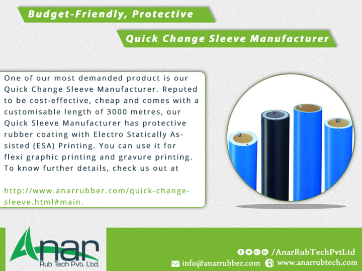 Budget-Friendly, Protective Quick Change Sleeve Manufacturer