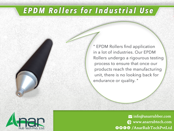 EPDM Rollers for Industrial Use