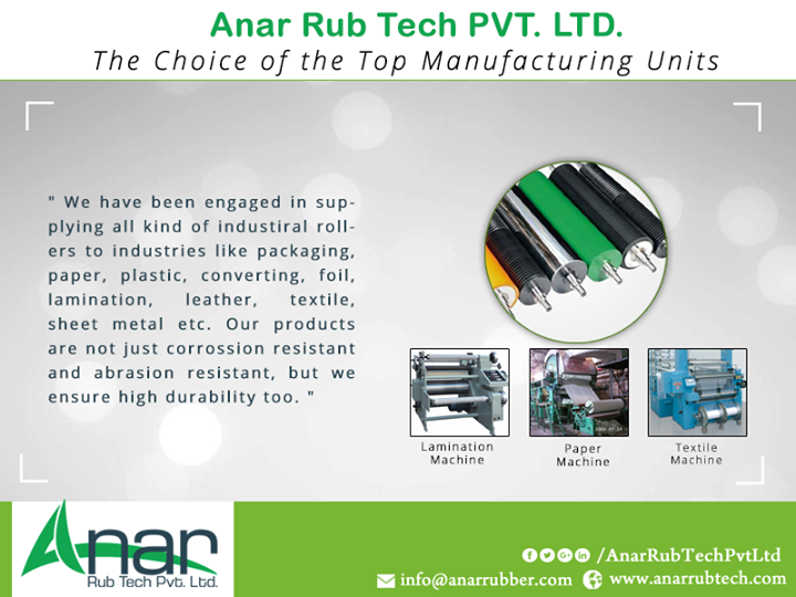 Anar Rub Tech - The Choice of the Top Manufacturing Units
