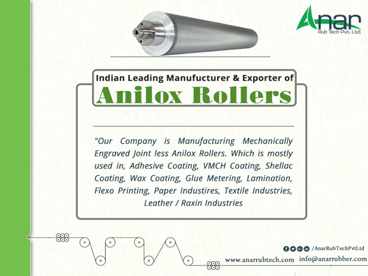 Indian Leading Manufucturer & Exporter of ANILOX COATING ROLLERS