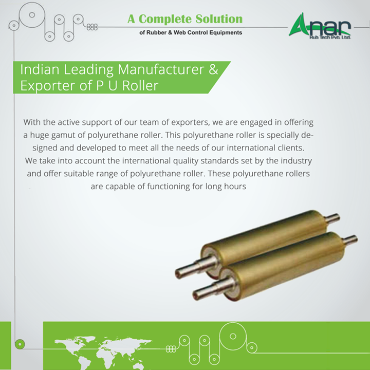 Indian Leading Manufacturer and Exporter of P U Roller