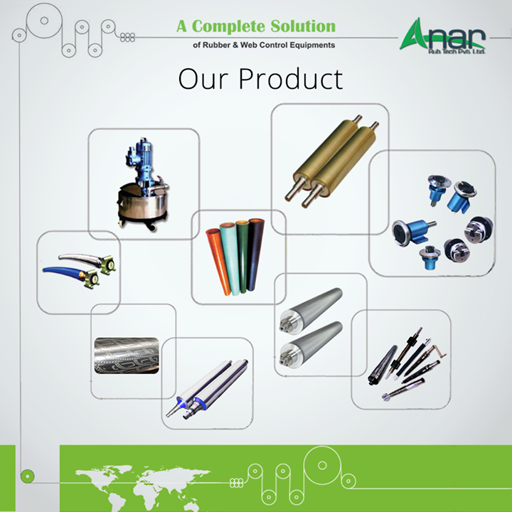 Our Product:- Safety Chuck,P U Rollers,Ink Circulating System,Air Shaft,Quick Change Sleeve,Wrinkle Removers,Anilox Coating Rollers,HCP Roller,Embossing Rollers
