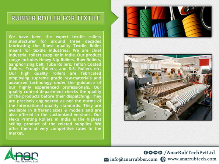 RUBBER ROLLER FOR TEXTILE