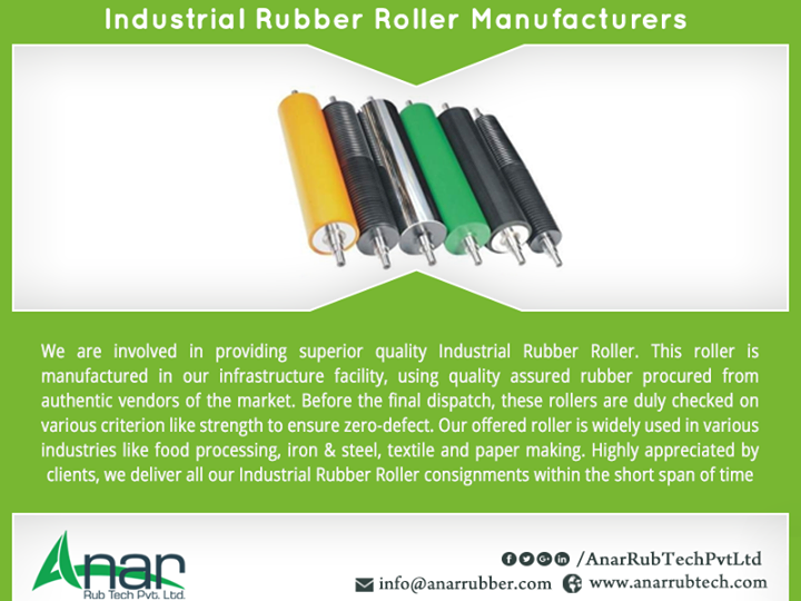 Industrial Rubber Roller Manufacturers