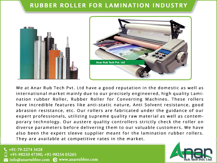 Rubber Roller Manufacturers For Lamination Industries