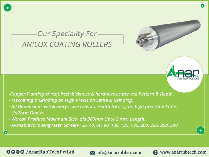 Our Speciality For ANILOX COATING ROLLERS
