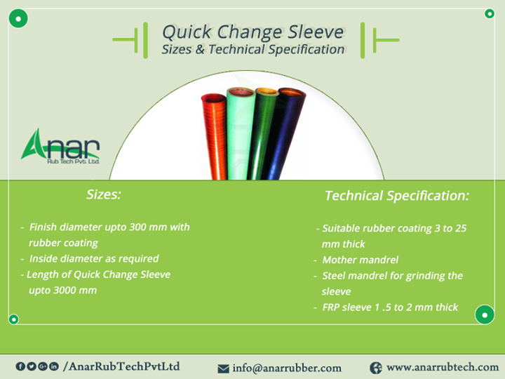 Quick Change Sleeve Sizes & Technical Specification