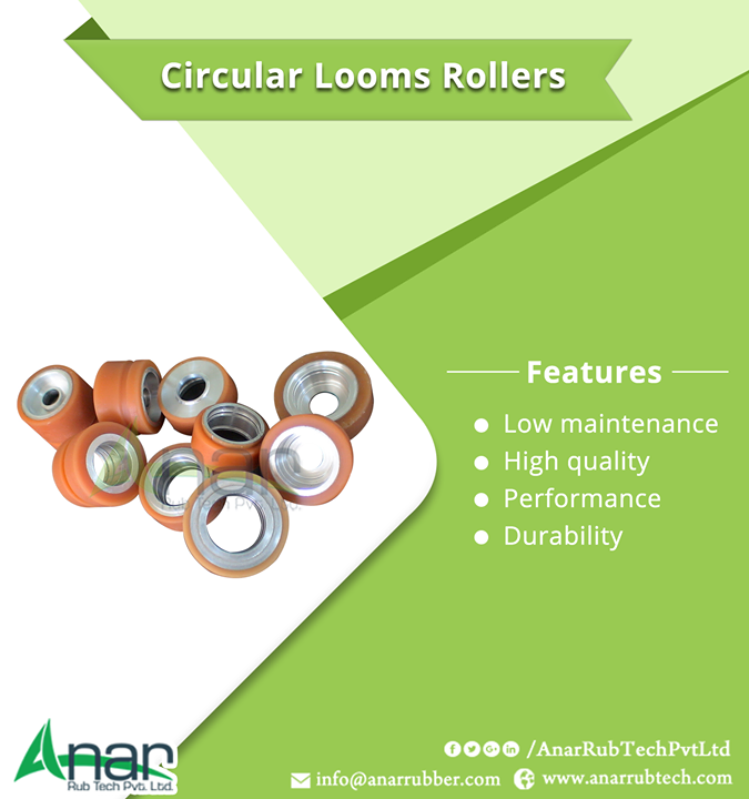 Circular Looms Rollers Features Features : Low maintenance High quality Performance Durability #CircularLoomsRollers #CircularLoomsRollersManufacturers #CircularLoomsRollersSuppliers #CircularLoomsRollersExporters  #BestManufacturersofCircularLoomsRollers W:http://anarrubtech.com/  M:+919825405265